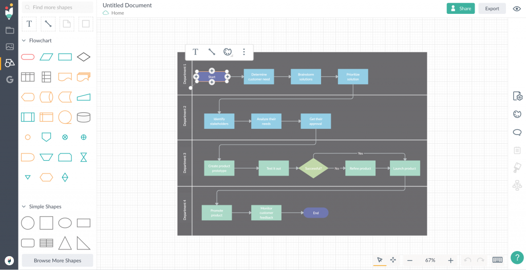 Captura de pantalla del producto Creately