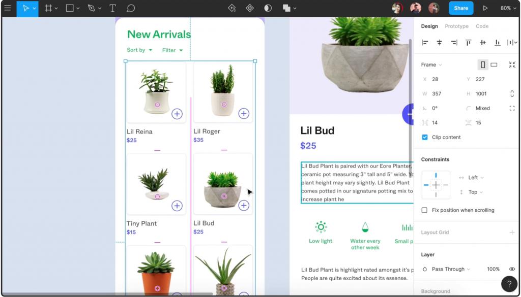 Captura de pantalla del producto Figma