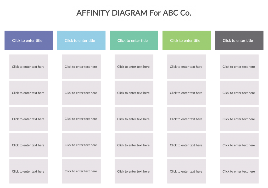 Affinity Diagram Template for Virtual Strategic Planning