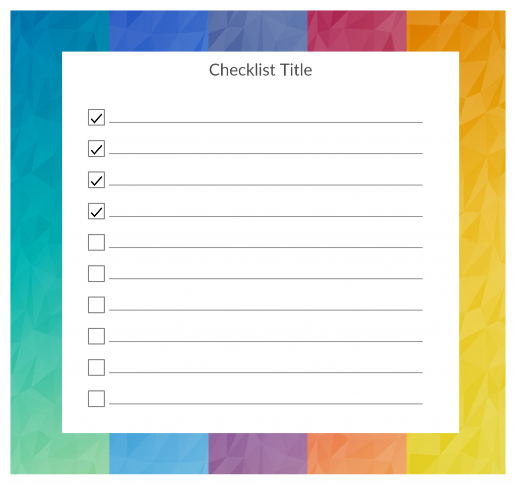Time Managment Tools- Checklist Template