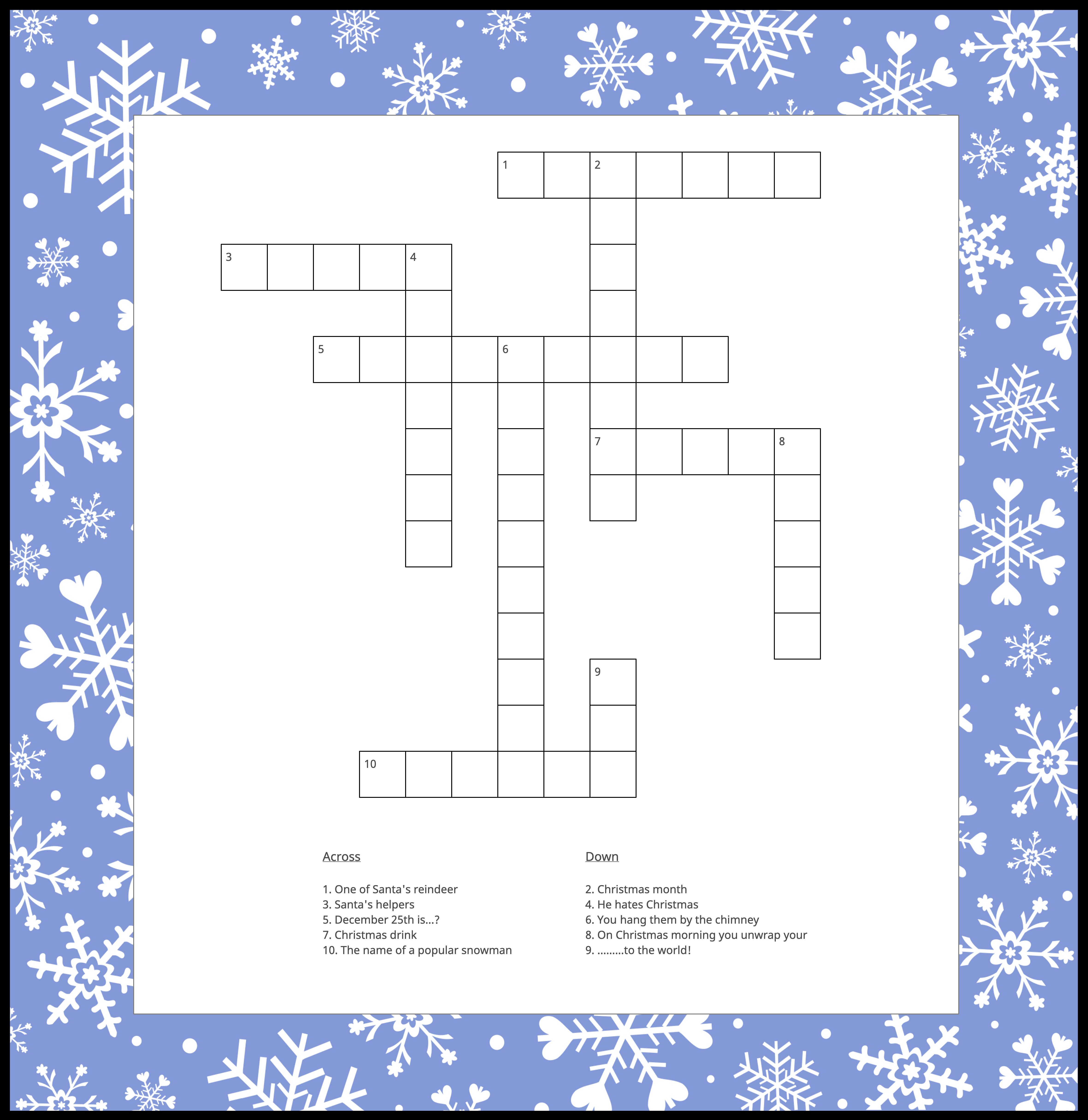 christmas-crossword-puzzle