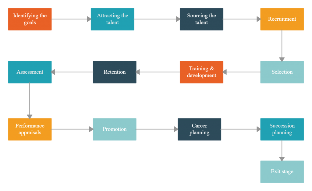 Talent management process to build a talent pipeline